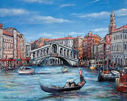 Glorious Venice by Phillip Bissell - Original Painting on Box Canvas sized 39x32 inches. Available from Whitewall Galleries